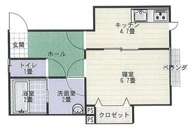 コーポフローラル大森123号  1DK  46000円  2階♪ 画像1