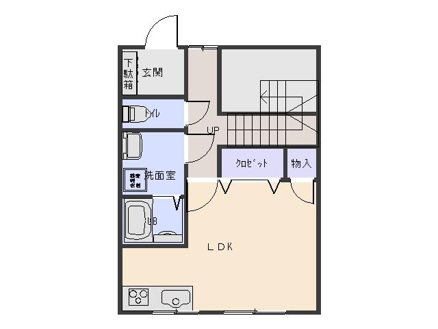 アメニテイパレス (メゾネット)A棟  3LDK  63000円  画像1