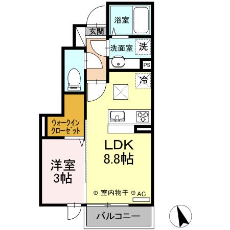 エターナルヒルズ 102   1LDK   54,000円   2021年11月20日 画像1