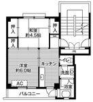 ビレッジハウス久野本2号棟          2K         25000円~30000円 画像1