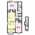 チェリーハウスⅠ204号  2LDK   55,000円