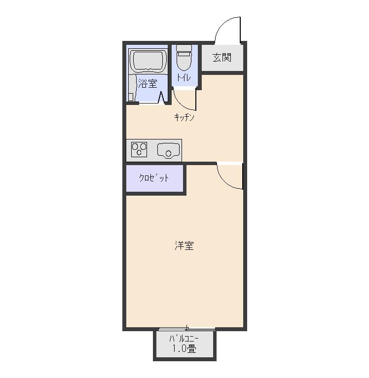 フォルムONE  1K  42000円  1階.2階角部屋空き♪ 画像1