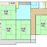 高橋貸家 4DK      40000円  (ペット可)2021/9~未定 画像1