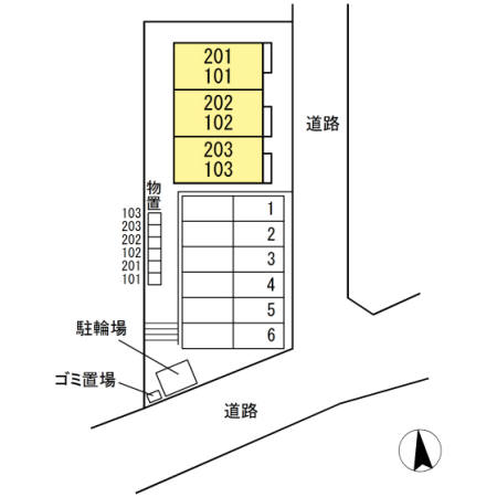 メゾン・クローバー 101  1LDK   56,000円 画像2
