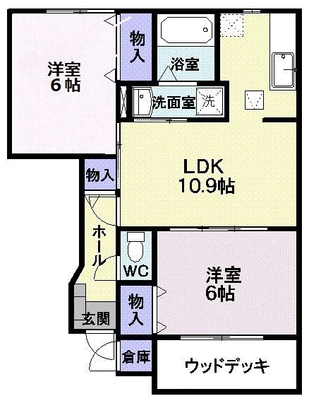 さくらヶ丘A   111号  2LDK   51,000円 画像1