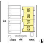 新築D-room駅西 102号  1LDK    58,500円  2021年3月20日