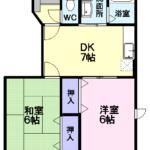 パレクロスロードA111   2DK  47,000円  2021年3月中旬