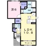 フォンテーヌⅡ B104  1LDK  52,000円   2021年4月下旬
