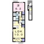 新築・リヴ・タウンTⅡ205  1LDK  61,000円   2021年3月下旬