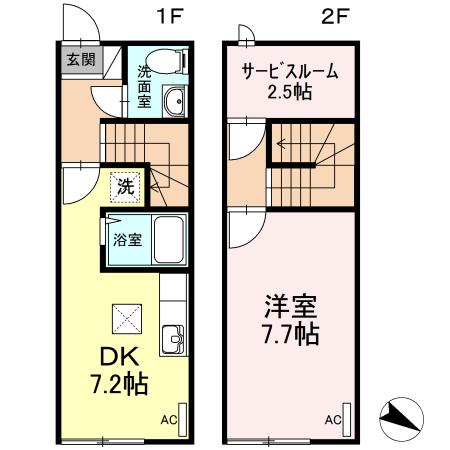 リースランド天童交り江 E  1DK    50,000円  2021年10月23日 画像2