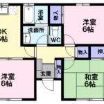 南小畑2丁目戸建住宅C 101号室 3DK  70,000円