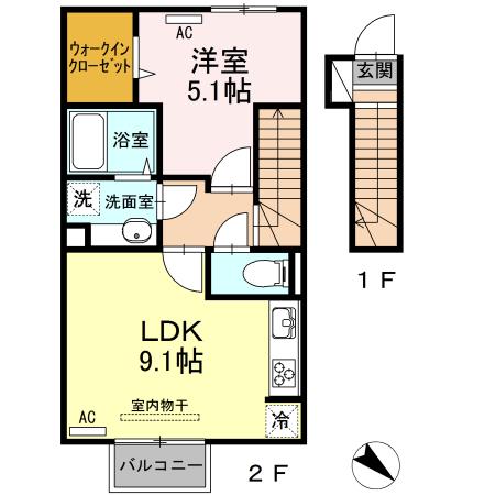 カーサ・ラッフィナートⅡ 202         1LDK          52,000円         2021年9月11日 画像2