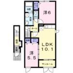 リヴ・タウン Ⅰ 203  2LDK   61,000円