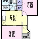 アーバンフォレストⅠ 111号  2DK   45,000円   2021年5月上旬