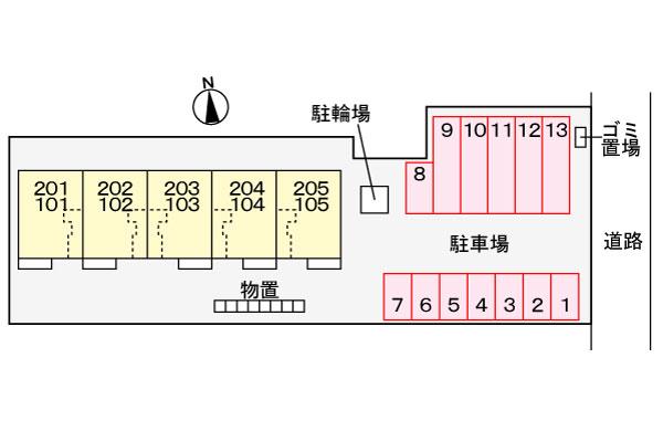 新築・ダンディライオン204  2LDK 60,000円   (ペット可)2021/09 画像13