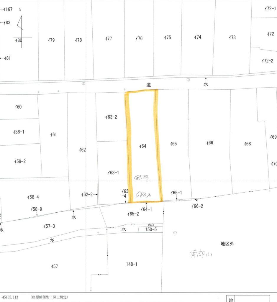河北町売り地   613.03㎡   600万 画像1