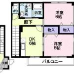 メゾンプロムナードA 122号  2DK    44,000円 画像1