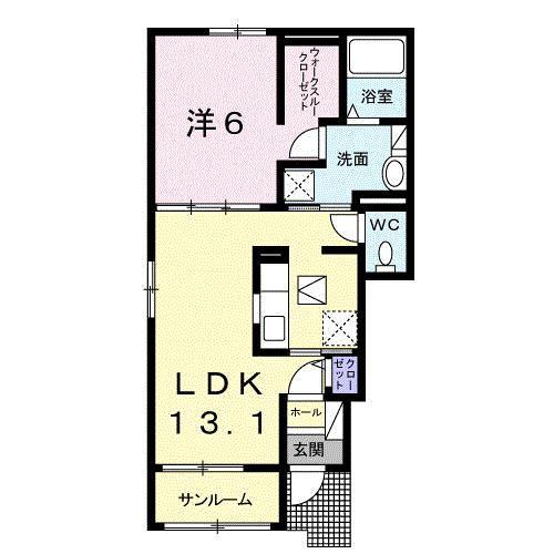 チェリーハウスⅡ102号   1LDK   50,000円    画像2