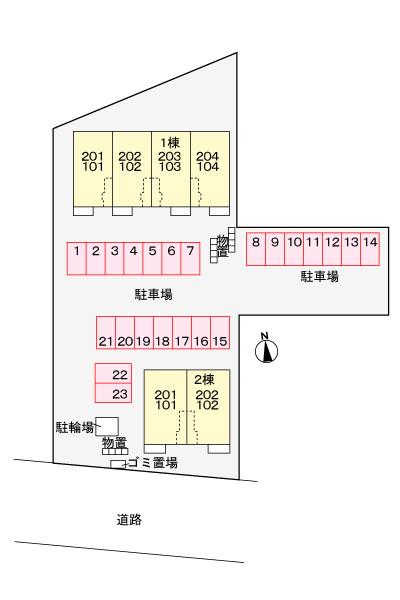 チェリーハウスⅡ102号   1LDK   50,000円    画像10