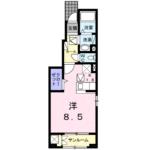 プリティーリファインド ビラⅡ101号  1K  49,000円 画像1
