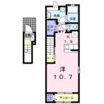 プリティーリファインド ビラⅡ201号  1K    54,000円  画像1